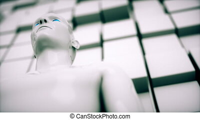 Conceptual animation depicting an Artificial Intelligence