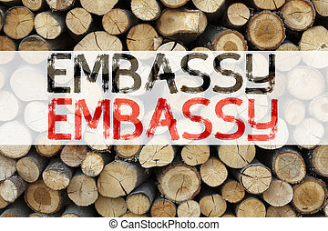 Conceptual announcement text caption inspiration showing Embassy Business concept for Tourist Visa Application written on wooden background with copy space