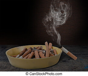 Conceptual antismoking background. Stop smoking now