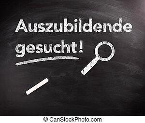 Auszubildende Gesucht Phrase on Black Chalkboard - ...