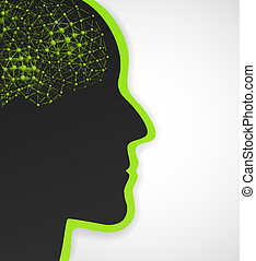 Conceptual background - Background with silhouette of man...