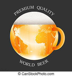 Conceptual beer label. Vector illustration