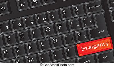 conceptual black keyboard