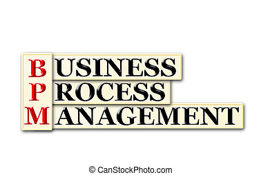 BPM - Conceptual BPM Business Process Management acronym on...