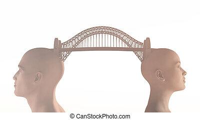 Conceptual bridge over water.