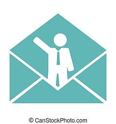 conceptual business mail