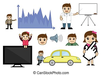 Conceptual Cartoon Business Graphics