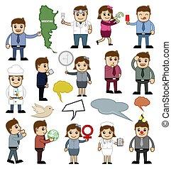 Conceptual Cartoon Vector Illustrations