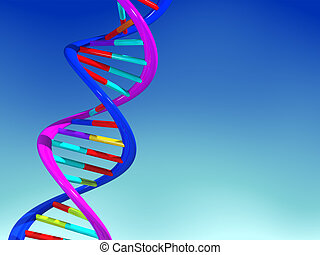 DNA structure - Conceptual chemistry scene - DNA structure -...
