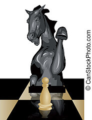 conceptual chess game, safety of a pawn