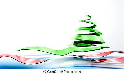 conceptual christmas tree - 3D representation of abstract ...