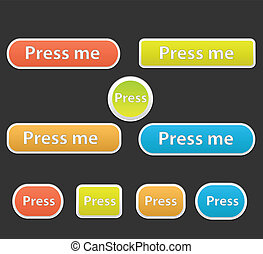 Press Me Buttons Vectors