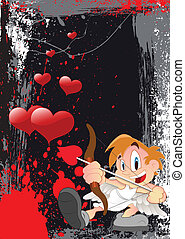 Love and Valentine Cupid Vector - Conceptual Creative...
