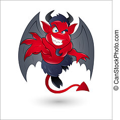 Conceptual Creative Design Art of Cartoon Devil