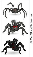 Spiders - Conceptual Creative Design Art of Cartoon Spiders...