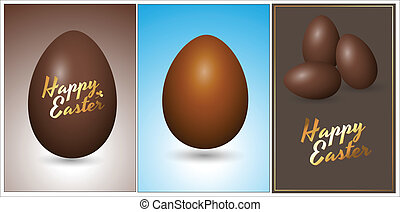 Easter Chocolate Eggs Vectors