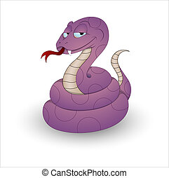 Funny Cartoon Snake Vector