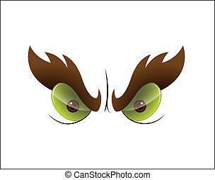 Angry Cartoon Eye