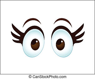 Cartoon Female Eye - Conceptual Design Art of Cartoon Female...