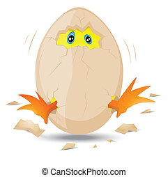 Baby Chick in Egg - Conceptual Design Art of Newborn Baby...