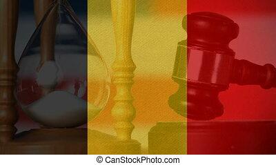 Conceptual digital animation of Belgium flag 4k