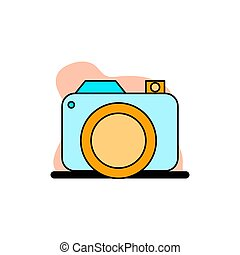 Conceptual Digital Camera Vector Icon Illustration Design