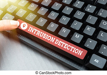 Conceptual display Intrusion Detection. Internet Concept monitors a network or systems for malicious activity Writing Online Research Text Analysis, Transcribing Recorded Voice Email