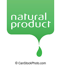 conceptual drop of the natural product