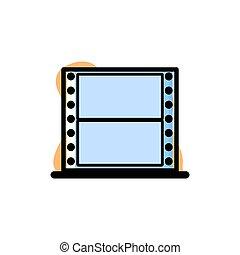 Conceptual Film Roll Icon Vector Illustration Design
