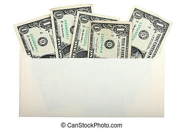 conceptual, foto, de, nosotros dólares, dentro, sobre,...