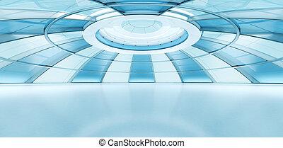 Conceptual future style interior. Plenty empty space to...