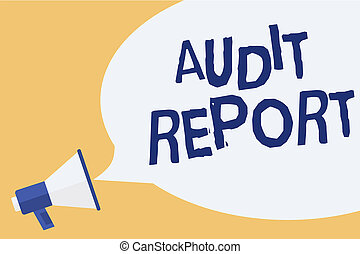 Handwriting text writing audit report  concept meaning an appraisal