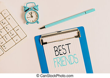 Conceptual hand writing showing Best Friends. Business photo...