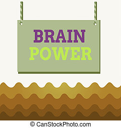 Conceptual hand writing showing Brain Power. Business photo ...