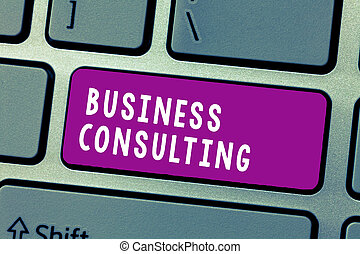 Conceptual hand writing showing Business Consulting. Business photo text Blends Practice of Academic Theoretical Expertise