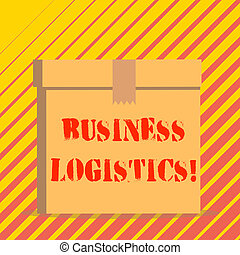Conceptual hand writing showing Business Logistics. Business...