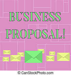 Conceptual hand writing showing Business Proposal. Business...