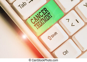 Conceptual hand writing showing Cancer Treatment. Business ...