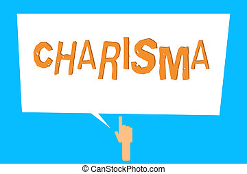 Conceptual hand writing showing Charisma. Business photo ...