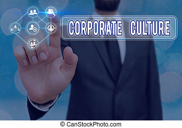 Conceptual hand writing showing Corporate Culture. Business ...