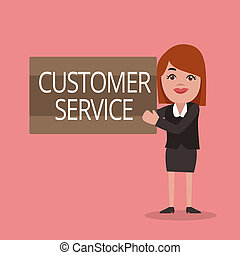 Conceptual hand writing showing Customer Service. Business...
