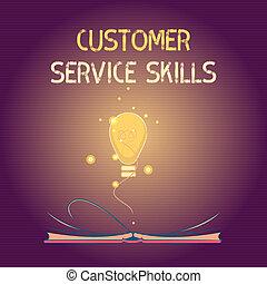 Conceptual hand writing showing Customer Service Skills. ...