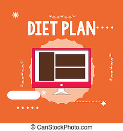 Conceptual hand writing showing Diet Plan. Business photo ...