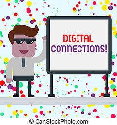 Conceptual hand writing showing Digital Connections....