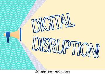 Conceptual hand writing showing Digital Disruption. Business...