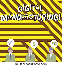Conceptual hand writing showing Digital Manufacturing. ...