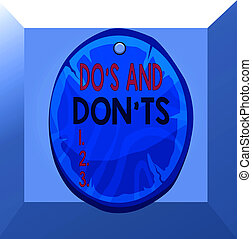 Conceptual hand writing showing Do S And Don tS. Business ...
