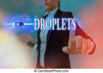 Conceptual hand writing showing Droplets. Business photo ...