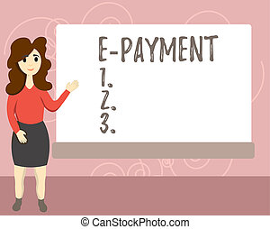 Conceptual hand writing showing E Payment. Business photo...