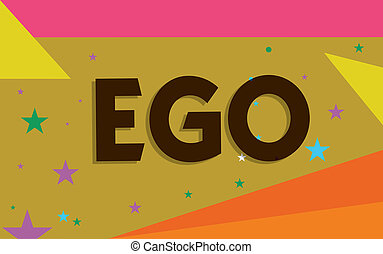Conceptual hand writing showing Ego. Business photo text ...